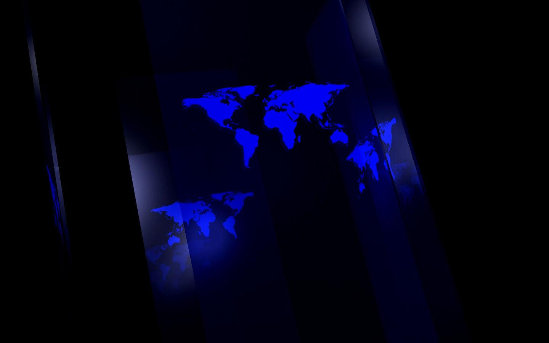 世界地图玻璃效果电脑屏保