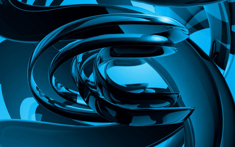 蓝色水晶3d动态电脑屏保
