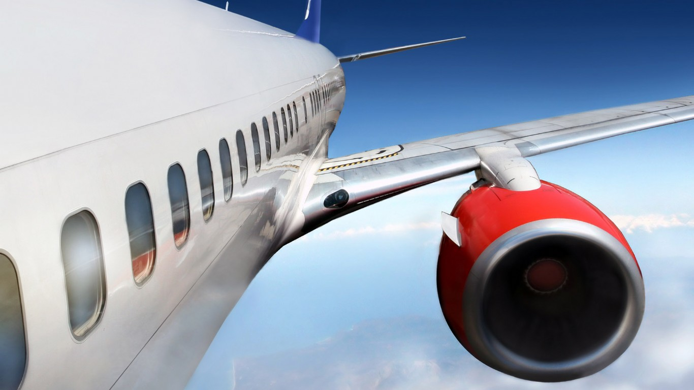 各国民航飞机航天蓝天拍摄高清壁纸