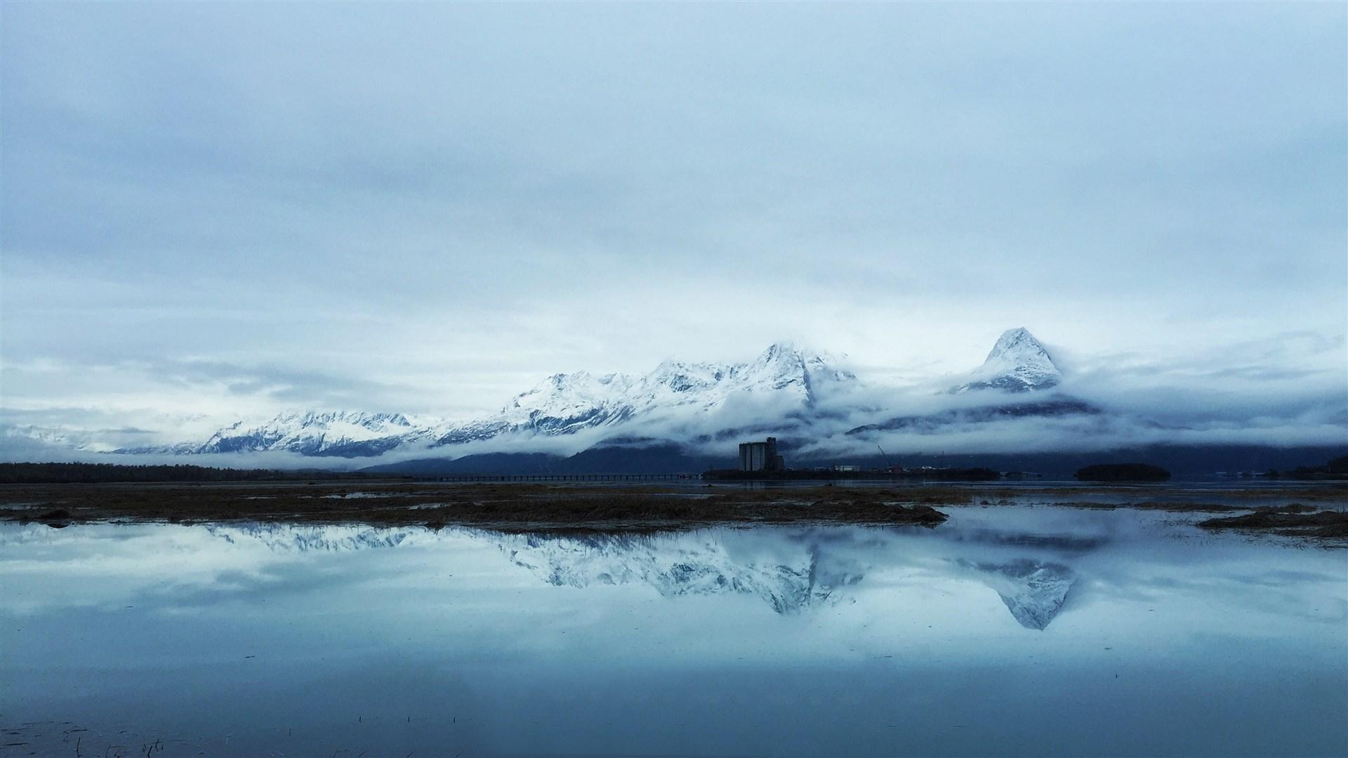 > 冰天雪地北方壮观雪景高清桌面壁纸
